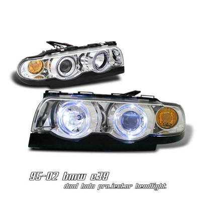 Headlights & Tail Lights - Headlights - OptionRacing - BMW 7 Series Option Racing Projector Headlight - 11-12115