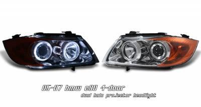 Headlights & Tail Lights - Headlights - OptionRacing - BMW 3 Series Option Racing Projector Headlight - 11-12128