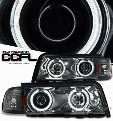Headlights & Tail Lights - Headlights - OptionRacing - BMW 7 Series Option Racing Projector Headlight - 11-12314