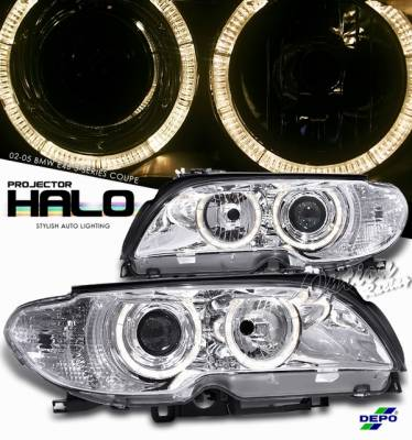 Headlights & Tail Lights - Headlights - OptionRacing - BMW 3 Series Option Racing Projector Headlight - 11-12315