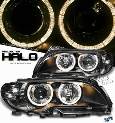 Headlights & Tail Lights - Headlights - OptionRacing - BMW 3 Series Option Racing Projector Headlight - 11-12316