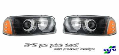 Headlights & Tail Lights - Headlights - OptionRacing - GMC Yukon Option Racing Projector Headlight - 11-15138