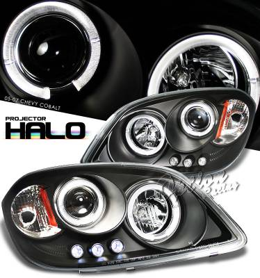 Headlights & Tail Lights - Headlights - OptionRacing - Chevrolet Cobalt Option Racing Projector Headlight - 11-15282