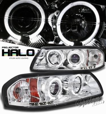 Headlights & Tail Lights - Headlights - OptionRacing - Chevrolet Impala Option Racing Projector Headlight - 11-15285