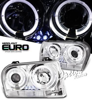 Headlights & Tail Lights - Headlights - OptionRacing - Chrysler 300 Option Racing Projector Headlight - 11-16279