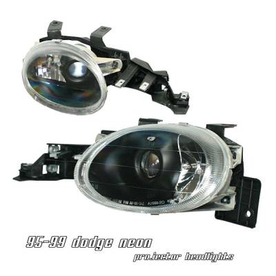 Headlights & Tail Lights - Headlights - OptionRacing - Dodge Neon Option Racing Projector Headlight - 11-17139