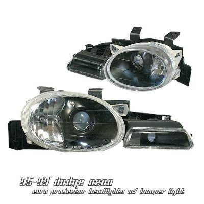 Headlights & Tail Lights - Headlights - OptionRacing - Dodge Neon Option Racing Projector Headlight - 11-17140