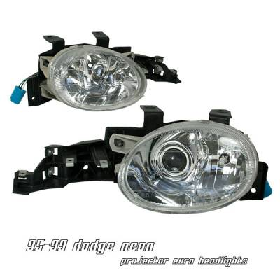 Headlights & Tail Lights - Headlights - OptionRacing - Dodge Neon Option Racing Projector Headlight - 11-17141