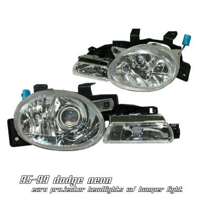 Headlights & Tail Lights - Headlights - OptionRacing - Dodge Neon Option Racing Projector Headlight - 11-17142