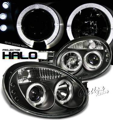 Headlights & Tail Lights - Headlights - OptionRacing - Dodge Neon Option Racing Projector Headlight - 11-17289