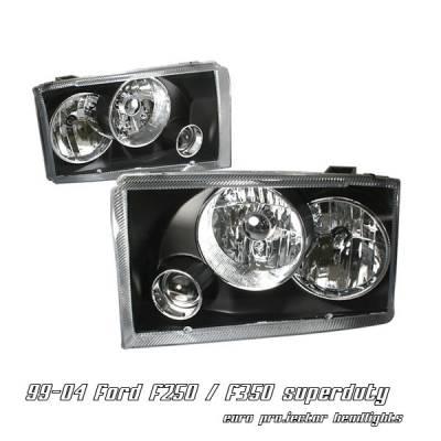 Headlights & Tail Lights - Headlights - OptionRacing - Ford F250 Option Racing Projector Headlight - 11-18153