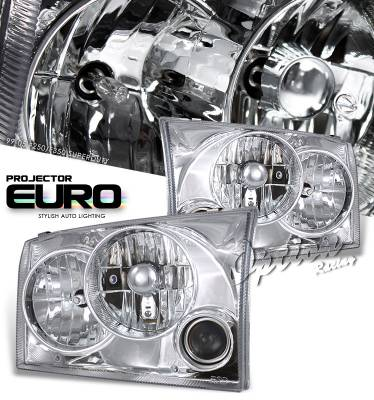 Headlights & Tail Lights - Headlights - OptionRacing - Ford F250 Option Racing Projector Headlight - 11-18154