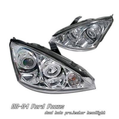 Headlights & Tail Lights - Headlights - OptionRacing - Ford Focus Option Racing Projector Headlight - 11-18156