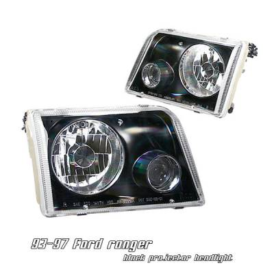 Headlights & Tail Lights - Headlights - OptionRacing - Ford Ranger Option Racing Projector Headlight - 11-18175