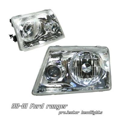 Headlights & Tail Lights - Headlights - OptionRacing - Ford Ranger Option Racing Projector Headlight - 11-18178