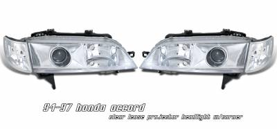 Headlights & Tail Lights - Headlights - OptionRacing - Honda Accord Option Racing Projector Headlight - 11-20182