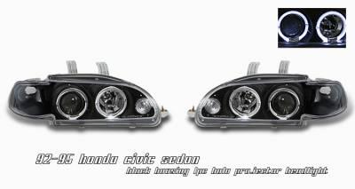 Headlights & Tail Lights - Headlights - OptionRacing - Honda Civic Option Racing Projector Headlight - 11-20193