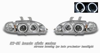 Headlights & Tail Lights - Headlights - OptionRacing - Honda Civic Option Racing Projector Headlight - 11-20194