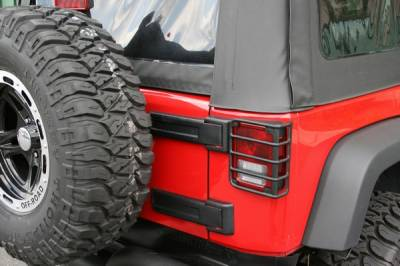 Headlights & Tail Lights - Tail Lights - Omix - Rugged Ridge Euro Guard Kit - Tail Light Guard - Black - 11226-02