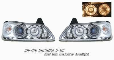 Headlights & Tail Lights - Headlights - OptionRacing - Infiniti I-30 Option Racing Projector Headlight - 11-23206