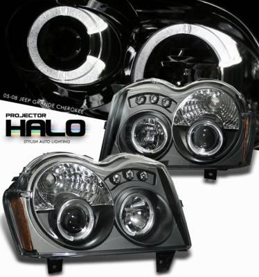 Headlights & Tail Lights - Headlights - OptionRacing - Jeep Grand Cherokee Option Racing Projector Headlight - 11-26301