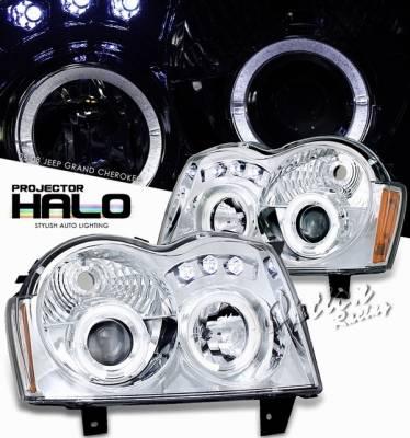 Headlights & Tail Lights - Headlights - OptionRacing - Jeep Grand Cherokee Option Racing Projector Headlight - 11-26302