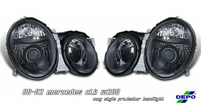 Headlights & Tail Lights - Headlights - OptionRacing - Mercedes-Benz CLK Option Racing Projector Headlight - 11-32213
