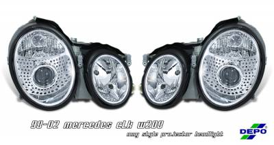Headlights & Tail Lights - Headlights - OptionRacing - Mercedes-Benz CLK Option Racing Projector Headlight - 11-32214