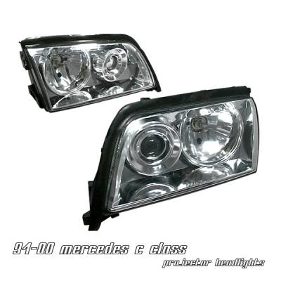 Headlights & Tail Lights - Headlights - OptionRacing - Mercedes-Benz C Class Option Racing Projector Headlight - 11-32222