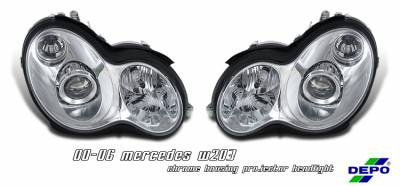 Headlights & Tail Lights - Headlights - OptionRacing - Mercedes-Benz C Class Option Racing Projector Headlight - 11-32224