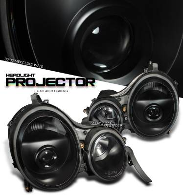 Headlights & Tail Lights - Headlights - OptionRacing - Mercedes-Benz E Class Option Racing Projector Headlight - 11-32225