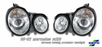 Headlights & Tail Lights - Headlights - OptionRacing - Mercedes-Benz E Class Option Racing Projector Headlight - 11-32227