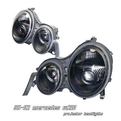 Headlights & Tail Lights - Headlights - OptionRacing - Mercedes-Benz E Class Option Racing Projector Headlight - 11-32228