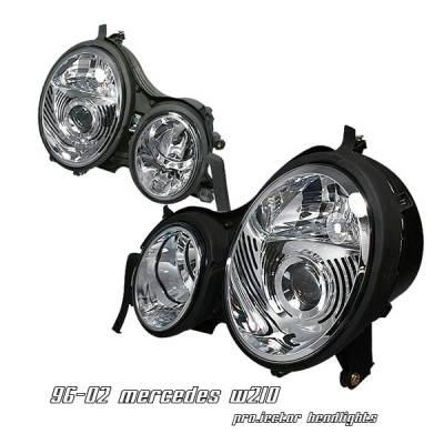 Headlights & Tail Lights - Headlights - OptionRacing - Mercedes-Benz E Class Option Racing Projector Headlight - 11-32229