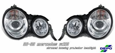 Headlights & Tail Lights - Headlights - OptionRacing - Mercedes-Benz E Class Option Racing Projector Headlight - 11-32230
