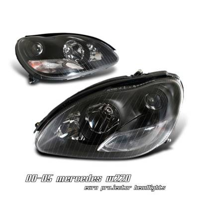 Headlights & Tail Lights - Headlights - OptionRacing - Mercedes-Benz E Class Option Racing Projector Headlight - 11-32232