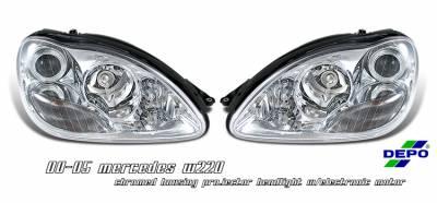 Headlights & Tail Lights - Headlights - OptionRacing - Mercedes-Benz S Class Option Racing Projector Headlight - 11-32235