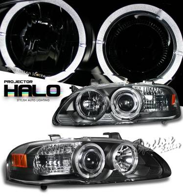 Headlights & Tail Lights - Headlights - OptionRacing - Nissan Sentra Option Racing Projector Headlight - 11-36306