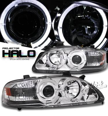 Headlights & Tail Lights - Headlights - OptionRacing - Nissan Sentra Option Racing Projector Headlight - 11-36307