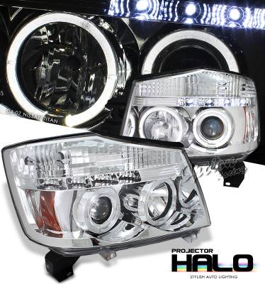 Headlights & Tail Lights - Headlights - OptionRacing - Nissan Titan Option Racing Projector Headlight - 11-36309