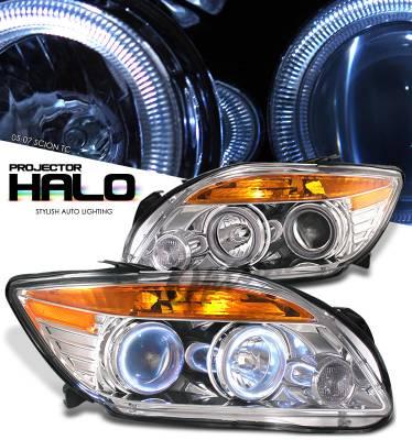 Headlights & Tail Lights - Headlights - OptionRacing - Scion tC Option Racing Projector Headlight - 11-41253