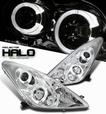 Headlights & Tail Lights - Headlights - OptionRacing - Toyota Celica Option Racing Projector Headlight - 11-44313