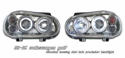 Headlights & Tail Lights - Headlights - OptionRacing - Volkswagen Golf Option Racing Projector Headlight - 11-45261