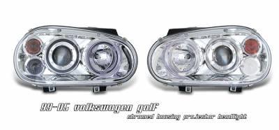 Headlights & Tail Lights - Headlights - OptionRacing - Volkswagen Golf Option Racing Projector Headlight - 11-45263