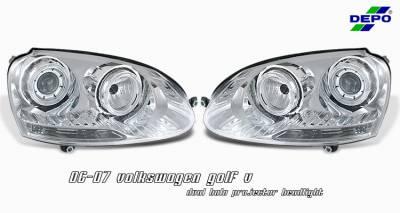 Headlights & Tail Lights - Headlights - OptionRacing - Volkswagen Golf Option Racing Projector Headlight - 11-45265