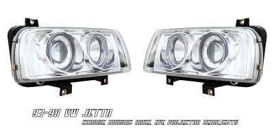 Headlights & Tail Lights - Headlights - OptionRacing - Volkswagen Jetta Option Racing Projector Headlight - 11-45267