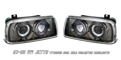 Headlights & Tail Lights - Headlights - OptionRacing - Volkswagen Jetta Option Racing Projector Headlight - 11-45268