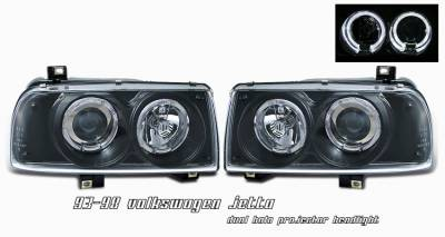 Headlights & Tail Lights - Headlights - OptionRacing - Volkswagen Jetta Option Racing Projector Headlight - 11-45269
