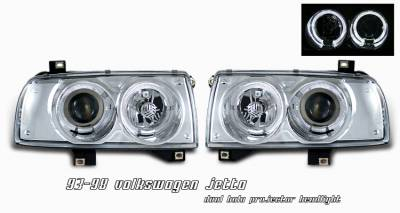 Headlights & Tail Lights - Headlights - OptionRacing - Volkswagen Jetta Option Racing Projector Headlight - 11-45270
