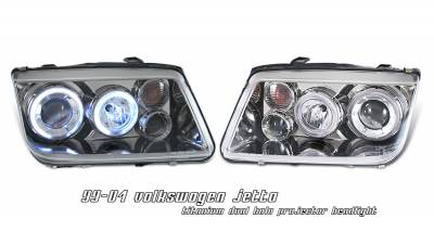 Headlights & Tail Lights - Headlights - OptionRacing - Volkswagen Jetta Option Racing Projector Headlight - 11-45273